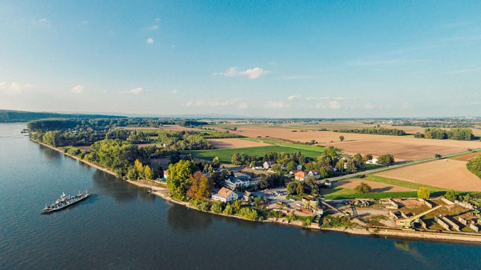 Luftbild Trebur-Kornsand