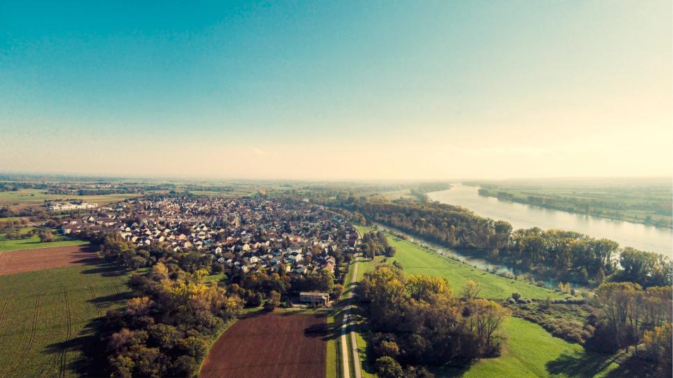 Luftbild Ginsheim