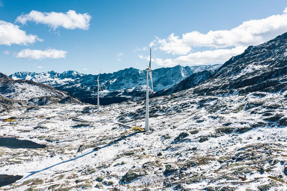 Luftbild Gotthardpass / Passo del San Gottardo
