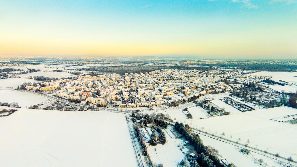 Luftbild Rüsselsheim-Bauschheim