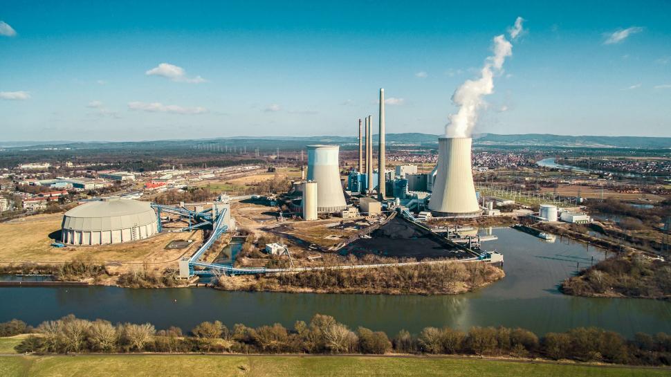 Luftbild Krankwerk Staudinger Hanau