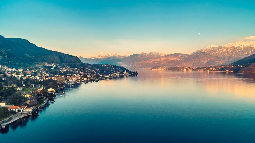 Luftbild Tremezzina am Comer See