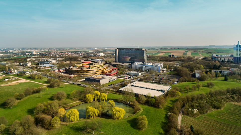 Luftbild ZDF Mainz-Lerchenberg