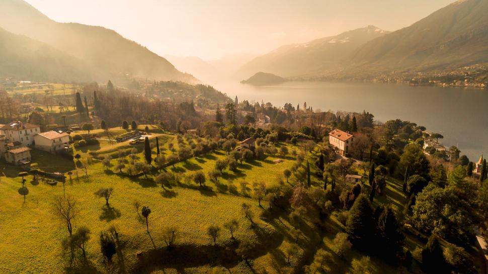 Luftbild Bellagio am Comer See