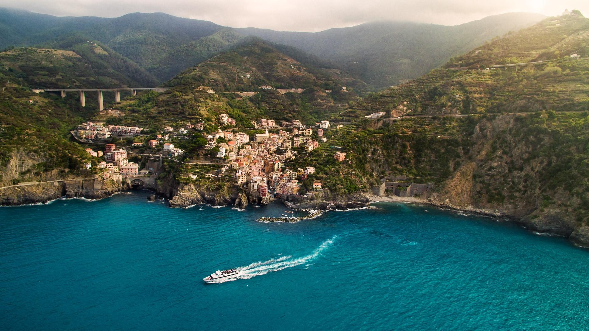 Luftbild Riomaggiore Cinque Terre