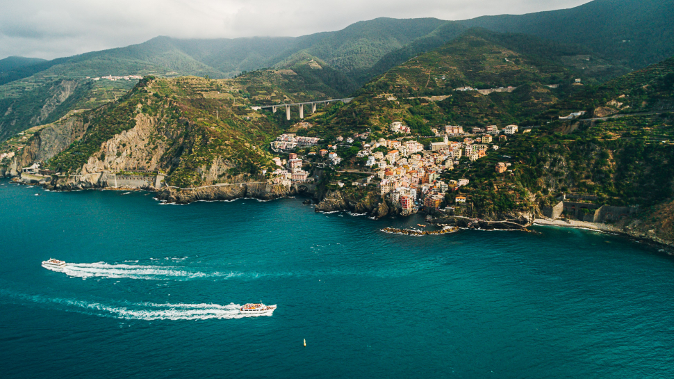 Luftbild Riomaggiore (Cinque Terre)