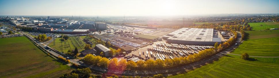 Luftbild Opel Werk Rüsselsheim