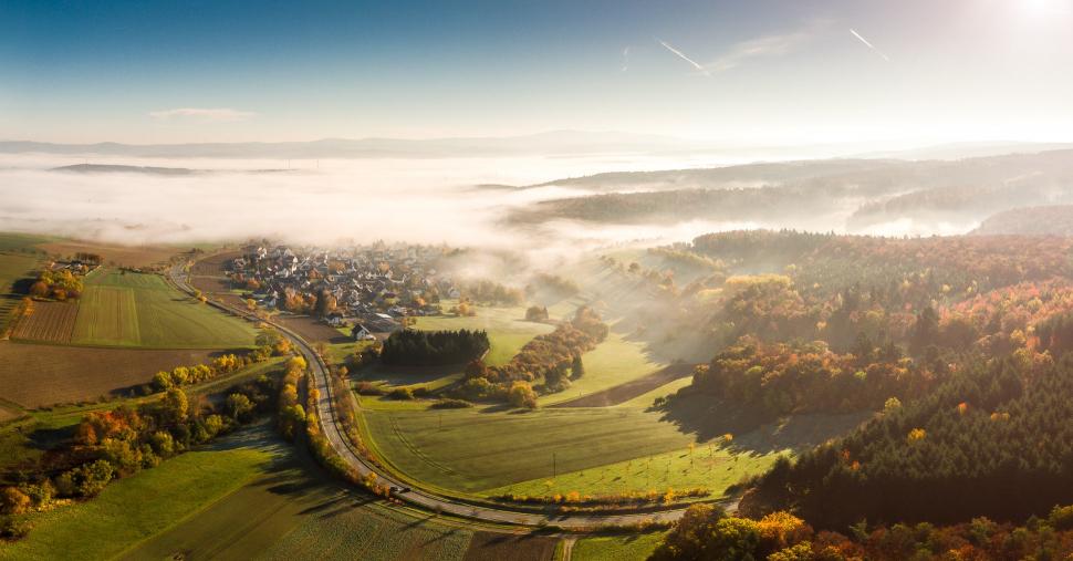 Luftbild Hünstetten-Bechtheim