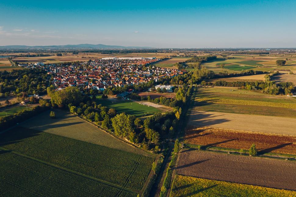 Luftbild Geinsheim am Rhein
