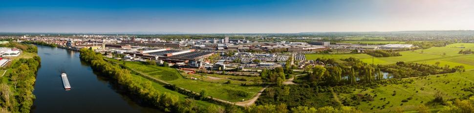 Luftbild Rüsselsheim am Main