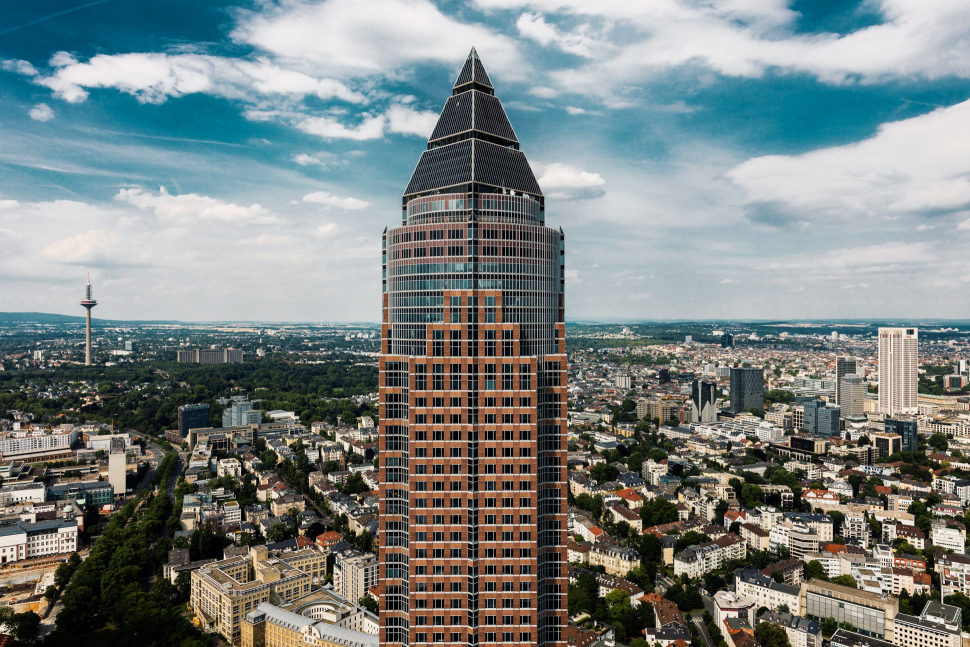 Luftbild Messeturm Frankfurt am Main