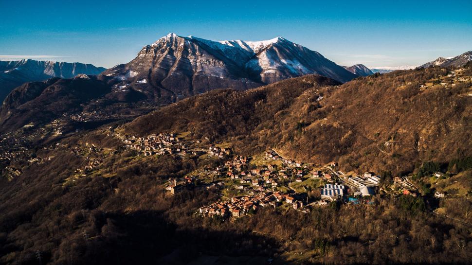 Luftbild Calveseglio am Comer See