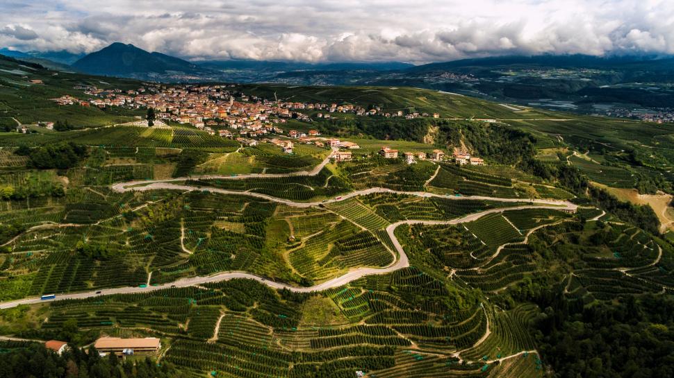 Luftbild Tuenno, Trentino
