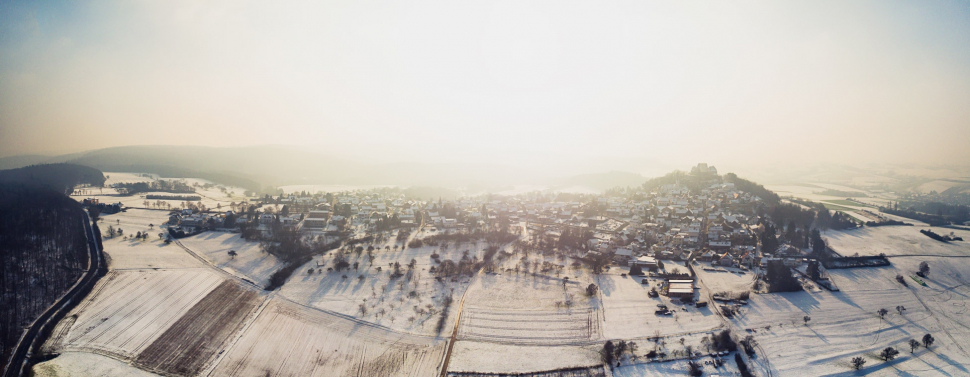 Luftbild Otzberg-Hering mit Veste Otzberg