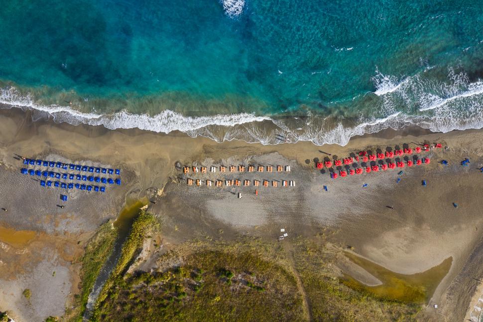 Luftbild Frangokastello Beach / Φραγκοκάστελλο