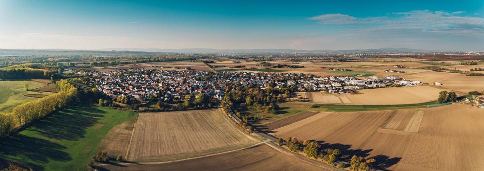 Luftbild Trebur-Astheim