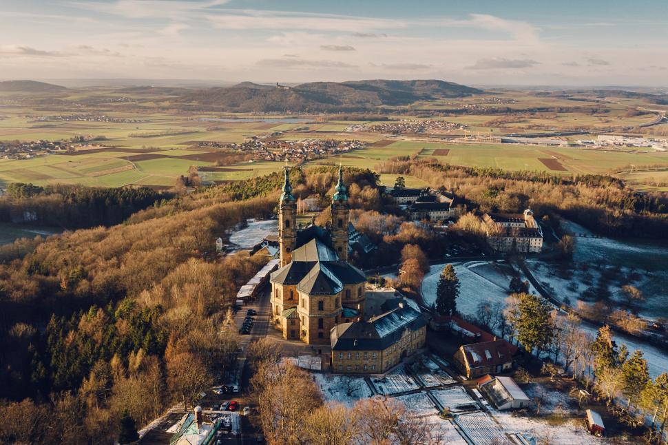Luftbild Basilika Vierzehnheiligen Bad Staffelstein