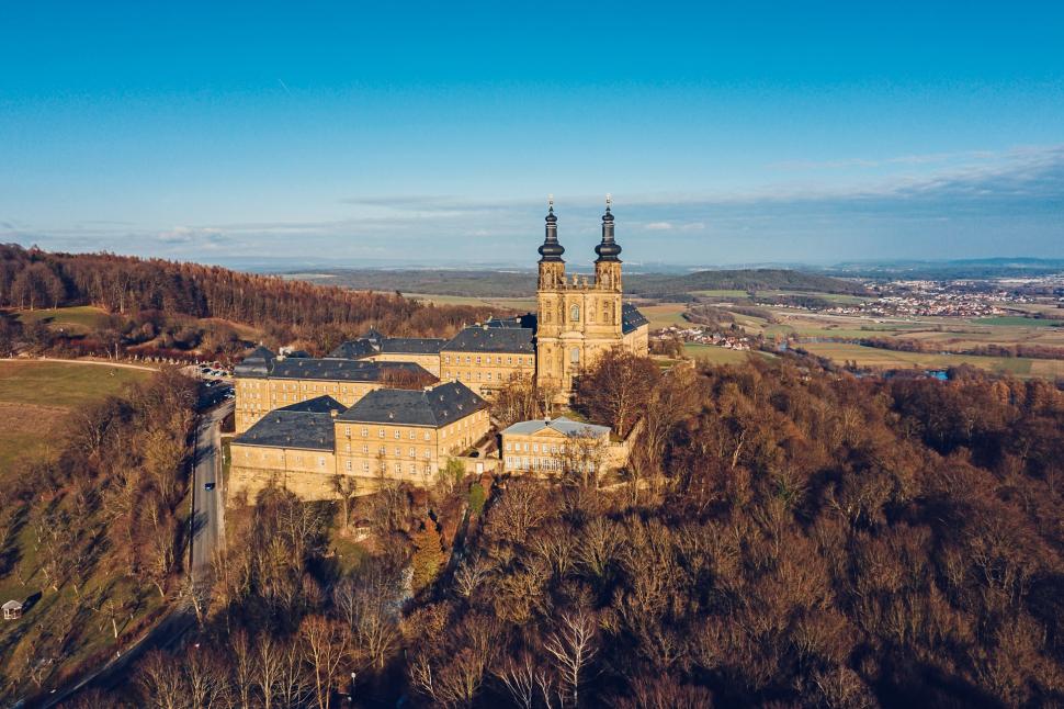 Luftbild Kloster Banz Bad Staffelstein