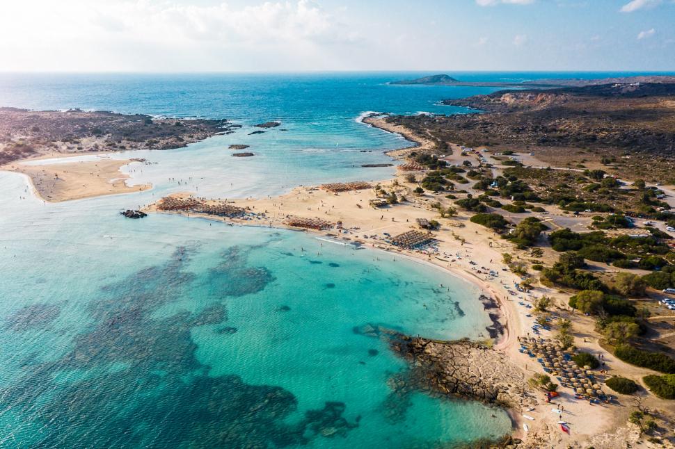 Luftbild Elafonissi Beach