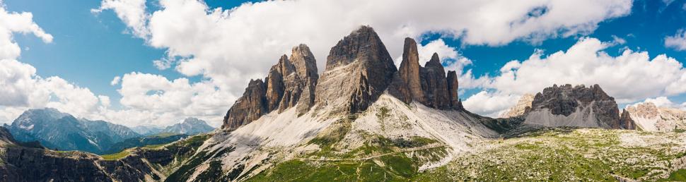 Luftbild Drei Zinnen Dolomiten