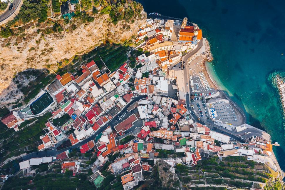 Luftbild Amalfi & Atrani