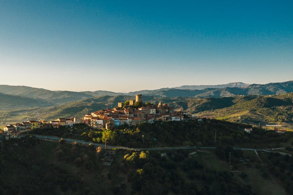Luftbild Castelnuovo Cilento