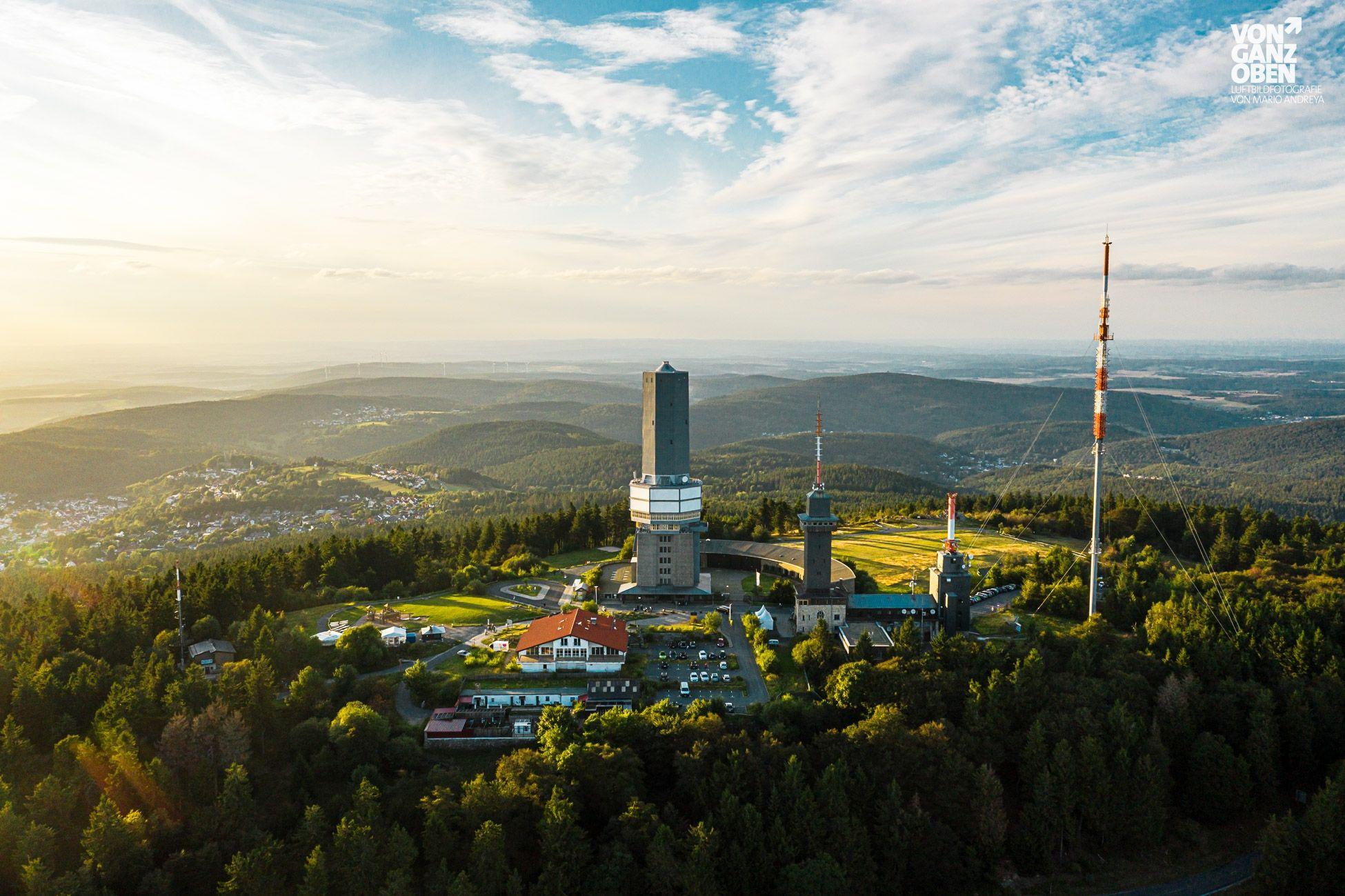 Luftbild Grosser Feldberg (Taunus) im Sommer