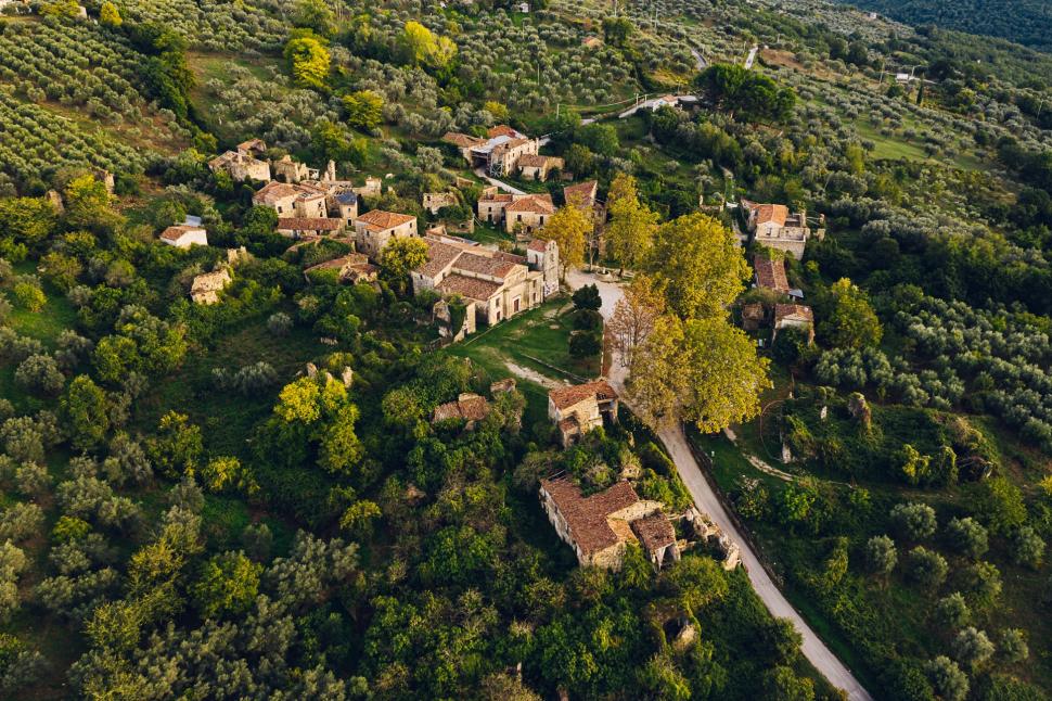 Luftbild Roscigno Vecchia