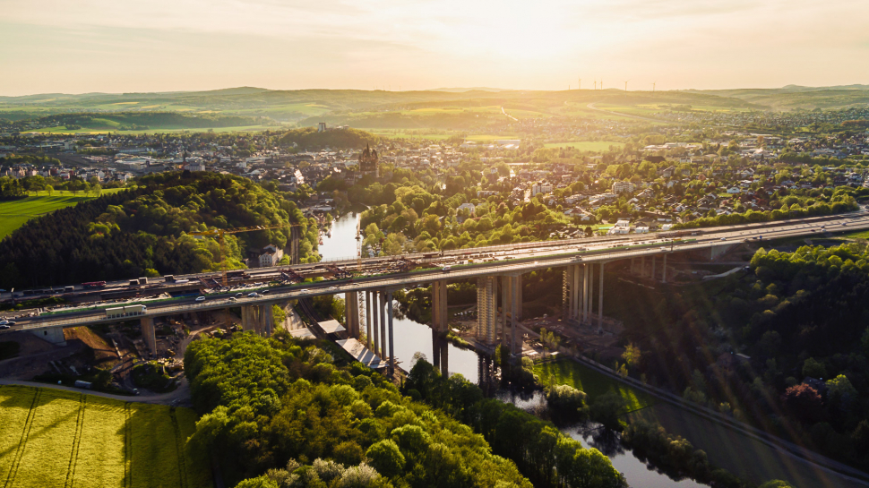 Luftbild Lahntalbrücke Limburg