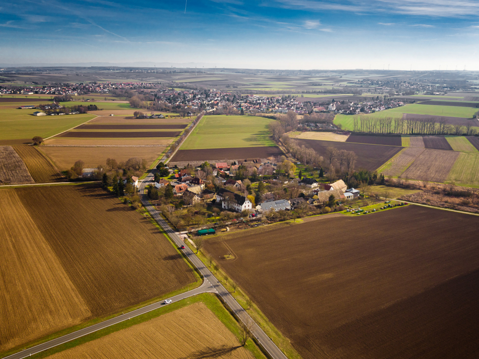 Luftbild Hahnheim Wahlheimer Hof